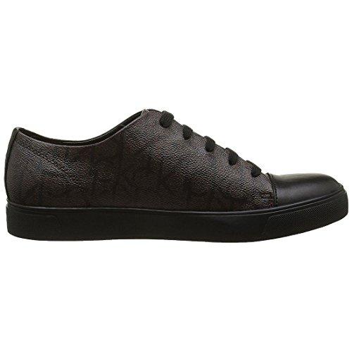 Calvin Klein Napoleon Iconogram/Calf, Zapatillas para Hombre marrón