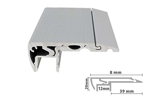 Profilo canalina barra alluminio led per scale gradini passatoie