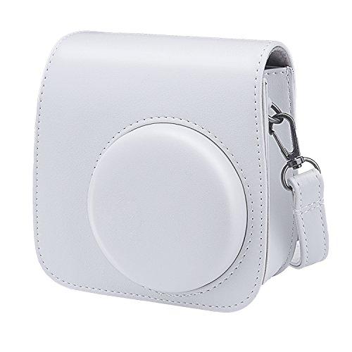 Sunmns PU Leather Case Bag for Fujifilm Instax Mini 9 Instant Camera, Smokey White