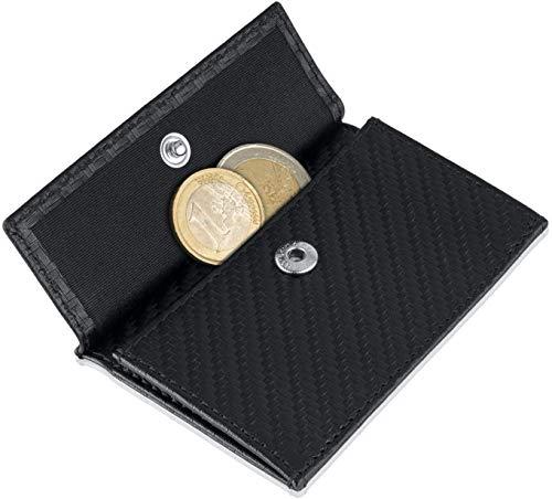 🥇 Monedero para la Cartera ZNAP Slim Wallet – Tiene la Capacidad para hasta 20 Monedas – Incluye la protección RFID Shield Blocker – Estuche para Monedas – por SLIMPURO
