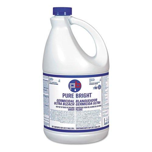 Pure Bright Pure Bright Liquid Bleach, 1 Gallon Bottle - six 1-gallon bottles of bleach.