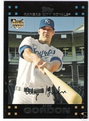 2007 Topps Kansas City Royals Complete Team Set of 22 Baseball Cards (series 1 & 2) - storage case - Includes Alex Gordon Rookie, Ryan Braun, Ryan Shealy, Mark Teahen, Mark Grudzielanek and more