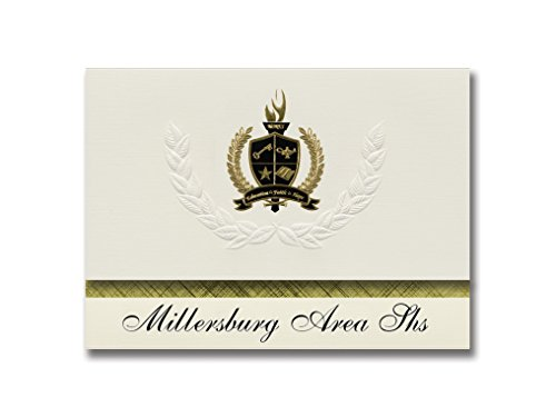 - Signature Announcements Millersburg Area Shs (Millersburg, PA) Graduation Announcements, Presidential style, Basic package of 25 with Gold & Black Metallic Foil seal