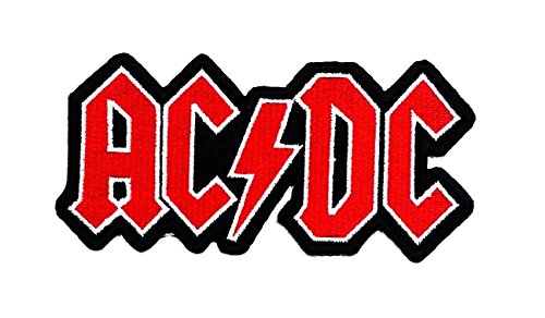 Embroidered Pique Jeans - ACDC AD/DC Rock Heavy Metal Punk Music Band Logo Patch Sew Iron on Embroidered Badge Sign Costume Gift