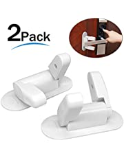 2PCS Door Lever Lock, Baby Safety Locks Child Safety Locks Baby Proofing Handle Locks Cabinet Latches for Protecting Toddlers Pets Safety