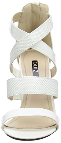 Quiz Patent Multi Strap Block - Zapatos Mujer White (White)