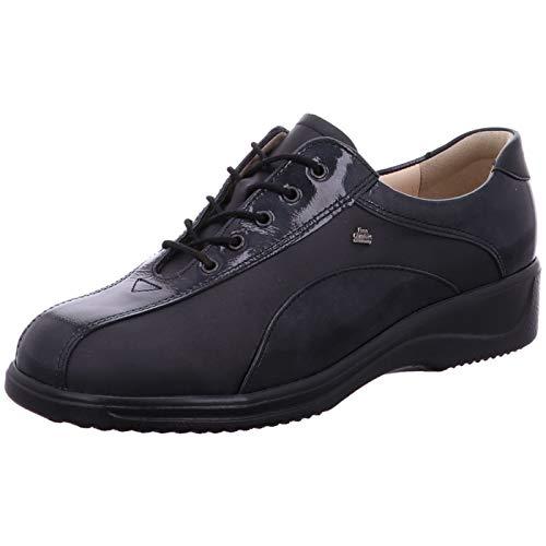 Negro Comfort Mujer Finn De Terciopelo Zapatos Cordones Pfqp1