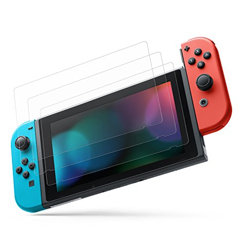 MoKo Screen Protector for Nintendo Switch(3 Pack), HD Clear Anti-Fingerprint & Anti-Bubble Film for Gaming Nintendo Switch 2017