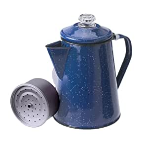 GSI Outdoors Enamelware Percolator Coffee Pot, 12-Cup