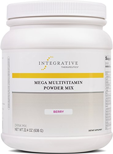 Integrative Therapeutics - Mega MultiVitamin Powder Mix - 23 Vitamins & Minerals with Protein, Amino Acids, Fiber, Calcium and Antioxidants - Berry Flavor - 22.4 oz