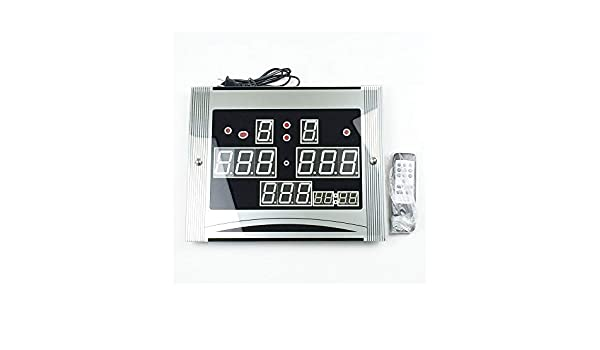 IJFDN Marcador electrónico electrónico del Billar del Billar Mando a Distancia y la demostración del Reloj: Amazon.es: Deportes y aire libre