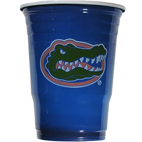 NCAA Plastic Game Day Cups, Florida Gators,18-Ounce, Sleeve of 18 cups