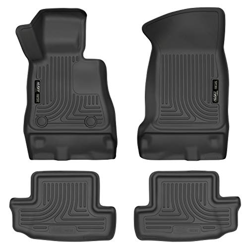 Husky Liners 99121 Black Front & 2nd Seat Floor Liners Fits 16-19 Chevrolet - Camaro Chevrolet Chevy Carpet