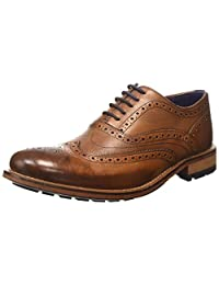 Ted Baker Mens Tan Guri 8 Leather Brogue Shoes