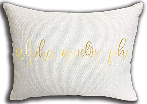Alpha Epsilon Phi Sorority Throw Pillow