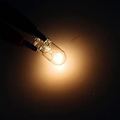 Partsam 20x T10 194 White Halogen Bulbs Instrument Cluster Dash Light Glove Box: Automotive