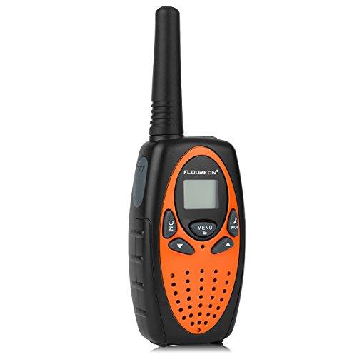 Floureon 22 Channel FRS/GMRS 2 Way Radio 2 Miles (Up to 3 Miles) UHF Handheld Walkie Talkie (Pack of 4, Black Orange)
