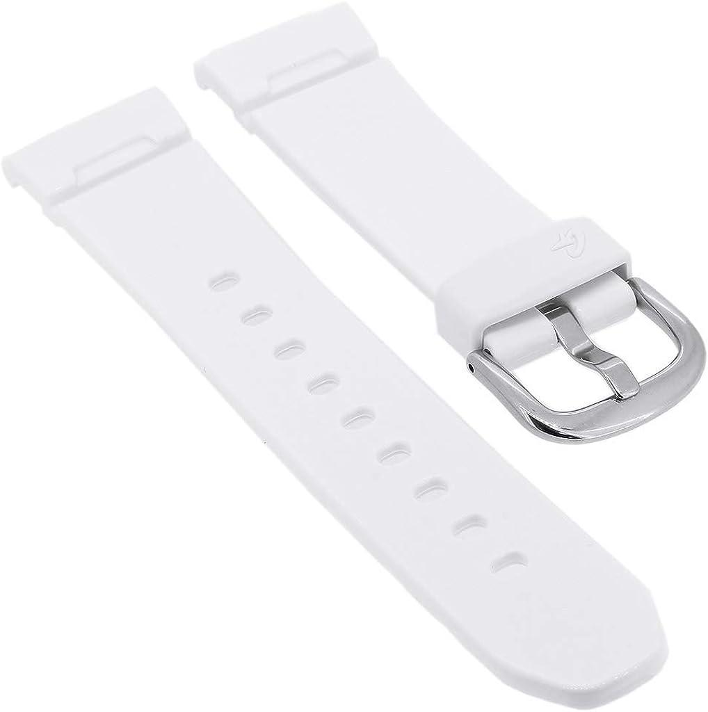 Correa de Repuesto para Reloj de Pulsera de Mujer Casio Baby-G de Resina Blanca BGA-100 BGA-101