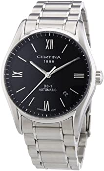 Certina DS 1 Automatic Black Dial Stainless Steel Mens Watch
