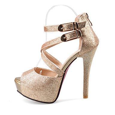 LFNLYX Sandalias mujer Primavera Verano Otoño otros PU Oficina Exterior & Carrera Stiletto talón Casual Otros Plata Oro Otros Silver