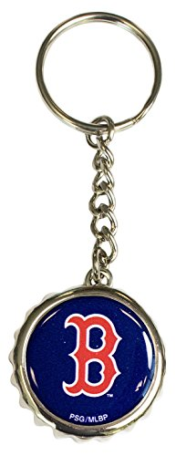 Pro Specialties Group MLB Boston Red Sox Bottle Cap Keychain, Navy, One Size