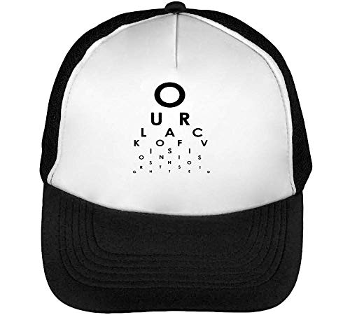 Eyes Check Sight Gorras Hombre Snapback Beisbol Negro Blanco