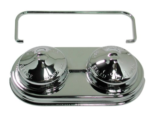 Chrome Master Cylinder Cover - Chevy/GM Oval Steel Master Cylinder Cover (Single Bail) - Chrome