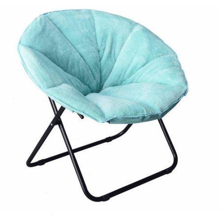 225 lbs Capacity Saucer Folding Chair Plush in Spearmint