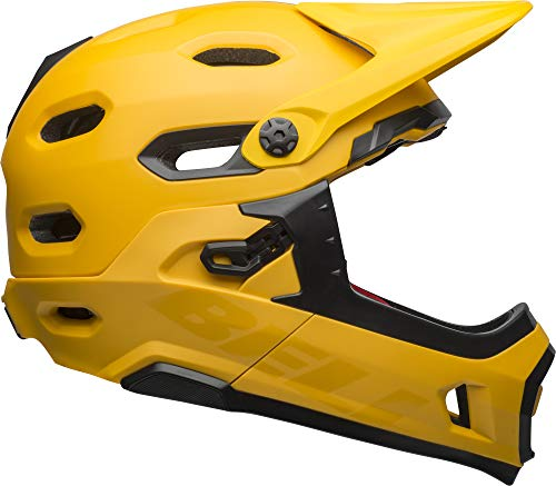Bell Super DH MIPS Adult MTB Bike Helmet (Matte/Gloss Yellow/Black (2019), Large) (Best Mtb Helmet Light 2019)