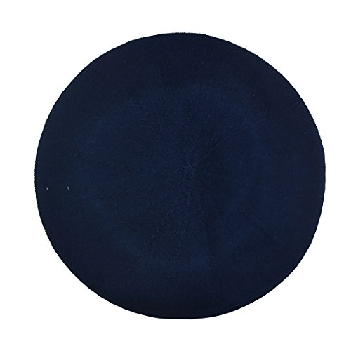 Landana Headscarves Navy Beret For Women 100% Cotton Solid - Medium/Large