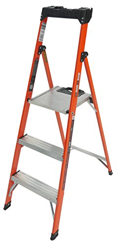 Little Giant Ladder Systems 15355-001 5' Quick-N-Lite Fiberglass Stepladder System Fiberglass