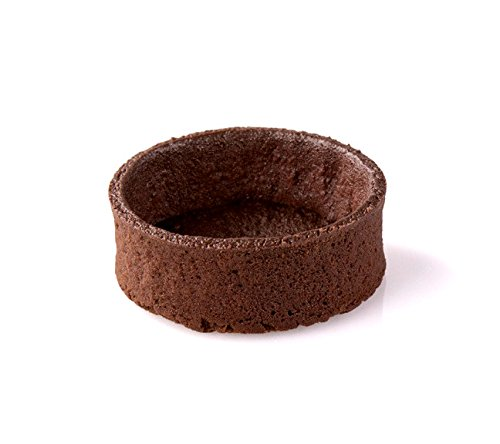 Chocolate Round Tart Shell Straight Edge Coated Inside with Cocoa Butter - 2'' Diameter - 100 pces by Pastry Chef's Boutique (Image #2)