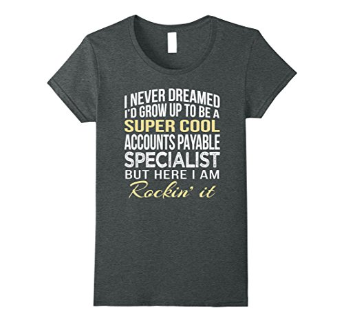 Womens Accounts Payable Specialist T Shirt Funny Gift Tee Large Dark Heather