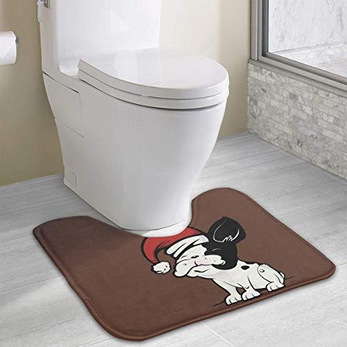 Beauregar Contour Bath Rugs,U-Shaped Bath Mats,Soft Memory Foam Bathroom Carpet,Nonslip Toilet Floor Mat 19.2″x15.7″
