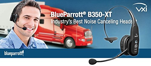 VXi BlueParrott B350-XT 95% Noise Canceling Bluetooth Headset (Renewed) 5 Talk for 24 hours, and charge via micro USB. Use VXi Updater to keep your B350-XT up to date with the latest firmware. New Parrott Button can be set to your choice of mute, speed dial and more. Be heard clearly everywhere with the industry's best noise canceling (95%).