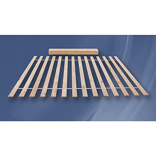 Rollrost, Lattenrahmen 100x200cm (14 Leisten auf 2 Meter verteilt) nicht verstellbar unverstellbar Fichtenholz Rolllattenrost