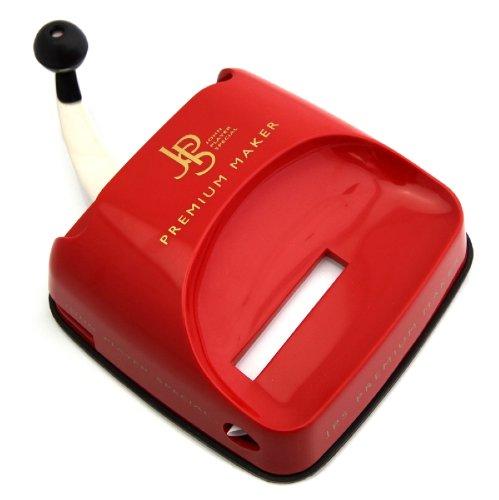 JPS Premium Maker Stopfgerät / Stopfmaschine in Rot - Mit Hebelmechanik - Praktisches Raucherzubehör - Erspart Zeit und Arbeit