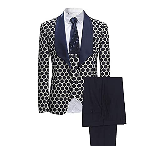 HWTP Traje de Hombre: Tejido de 3 Piezas, Vestido clásico de ...