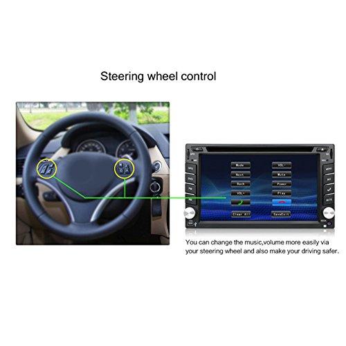 YUNTX Double Din Inch Car Wince 6.0 GPS Navigation Backup Rear Camera,Support DVD/CD/MP3/MP4/USB/SD/AM/FM/RDS Radio/Audio
