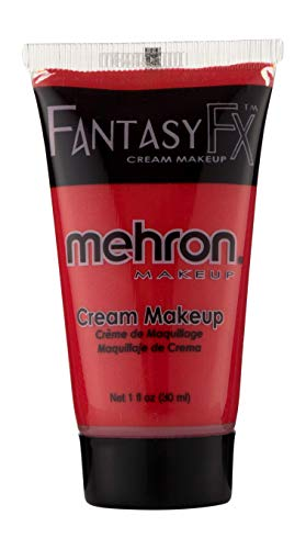 Mehron Makeup Fantasy F/X Water Based Face & Body Paint (1 oz) (RED) -