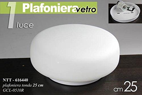 Plafoniere Tonde Da Soffitto : Plafoniera tonda applique in vetro da soffitto luce cm