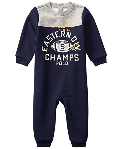 - Ralph Lauren Baby Boys L/S Cotton-Blend-Fleece Coverall (nb, French Navy)