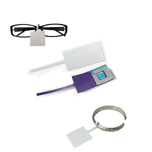 RF8.2Mhz eas jewelry security label glasses soft label 3cmX3cm 1000 piece by ZFD®