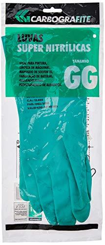 Luva Nitrílica Tamanho GG, Carbografite, 012173712, Verde