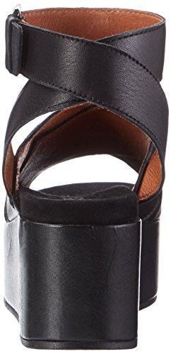tacón Biz Sandalias color plateadas mujer para mujer de negro Shoe de para ww0q5r