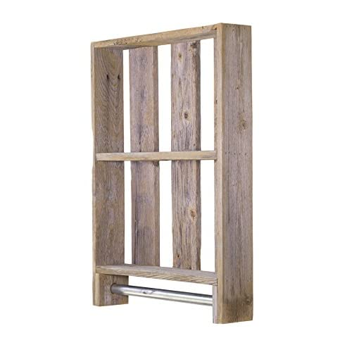 50%OFF DAKODA LOVE - Bath Shelf w/ Towel Rod (Barnwood)