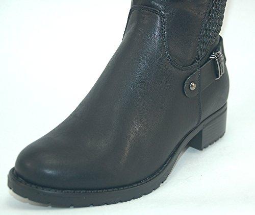 Damen Stiefel Boots Kayla schwarz Schuhe leicht gefüttert Größe 40