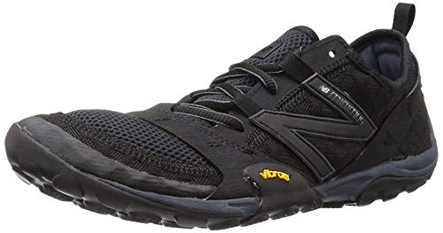 New Balance Men's MT10V1 Minimus Trail Running Shoe, Black/Silver, 13 D US