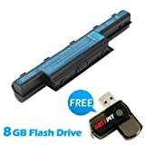 Battpit? Laptop / Notebook Battery Replacement for Gateway NE56R47u (6600mAh / 71Wh) with FREE 8GB Battpit? USB Flash Drive