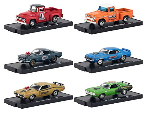 Drivers 6 Cars Set Release 60 in Blister Packs 1/64 Diecast Model Cars by M2 Machines 11228-60
